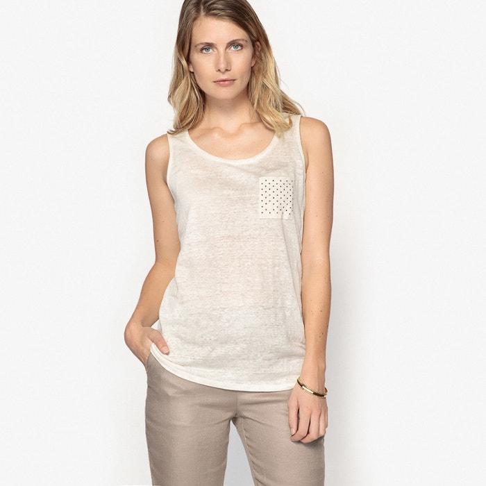 lino ANNE de cuello mangas punto redondo sin con Camiseta WEYBURN 100 fwrxf0vT