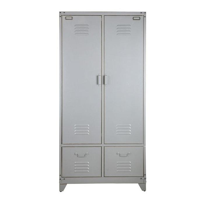 armoire vintage metal nordic factory la redoute. Black Bedroom Furniture Sets. Home Design Ideas