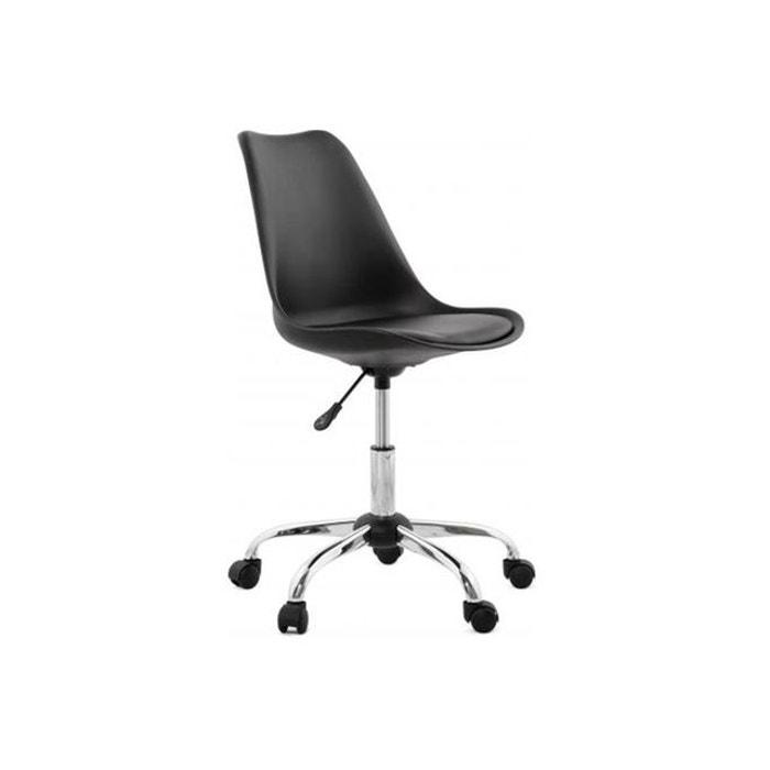 chaise design blanche pivotante juan imitation cuir declikdeco la redoute. Black Bedroom Furniture Sets. Home Design Ideas