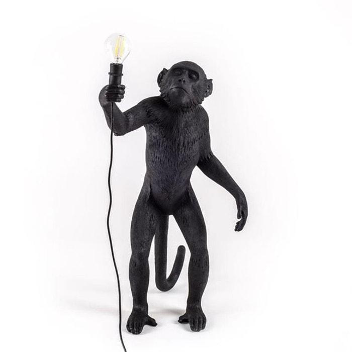 monkey lampe poser d 39 ext rieur singe debout h54cm noir seletti la redoute. Black Bedroom Furniture Sets. Home Design Ideas