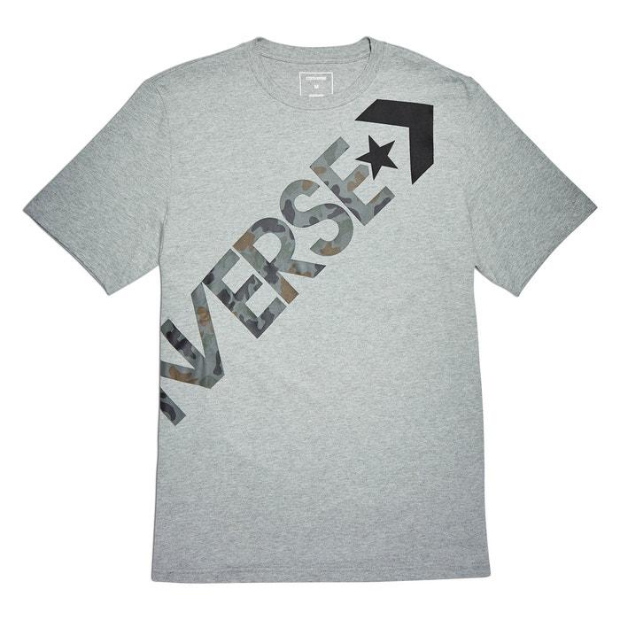 delante cuello con CONVERSE Cross motivo y Body redondo Camiseta 5vYvBxwE
