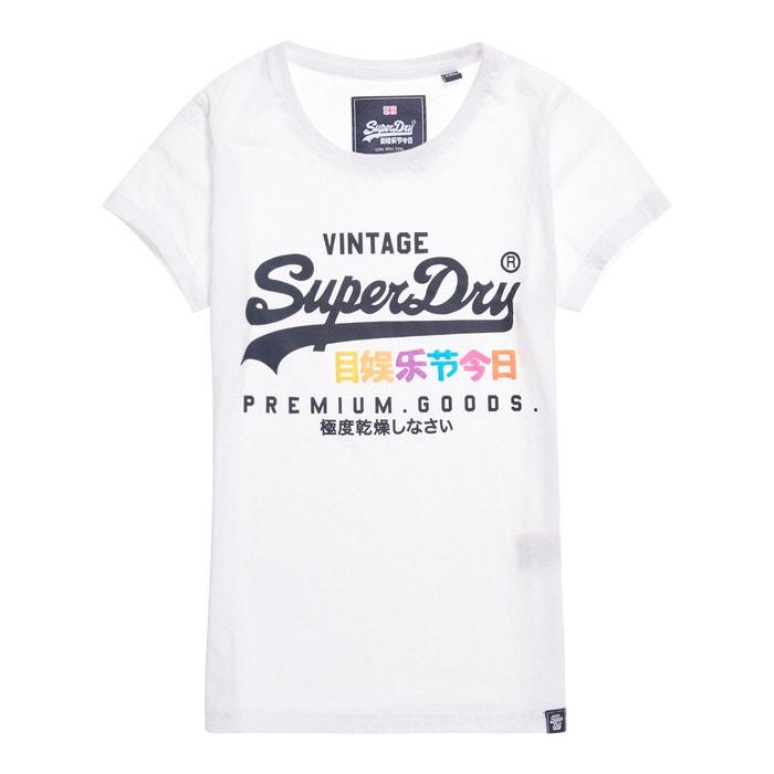 y cuello logotipo Camiseta manga redondo con corta SUPERDRY xvwq1UOnU