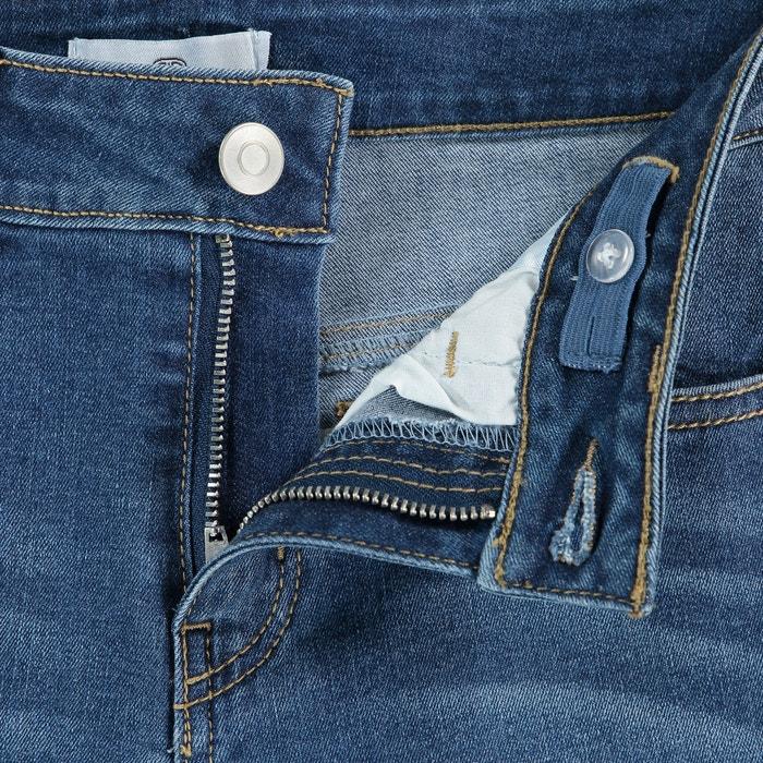 Jeans skinny, barra dos lados, 10 16 anos