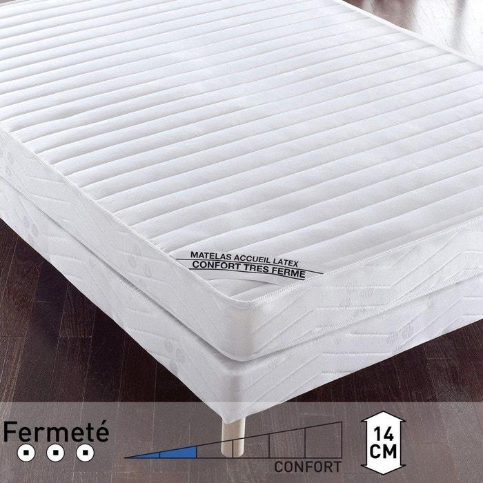 matelas accueil latex confort tr s ferme la redoute interieurs blanc la redoute. Black Bedroom Furniture Sets. Home Design Ideas