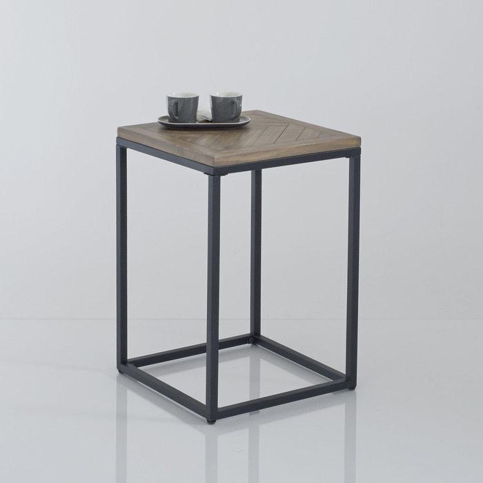 bout de canap m tal et bois h60 cm nottingham pin cir. Black Bedroom Furniture Sets. Home Design Ideas