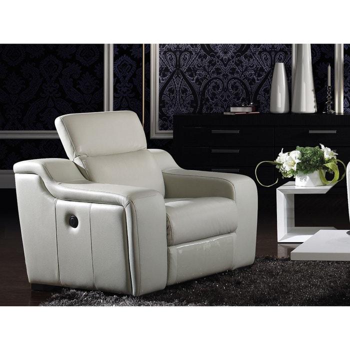 fauteuil relaxation lectrique nolan ivoire la maison du canape la redoute. Black Bedroom Furniture Sets. Home Design Ideas