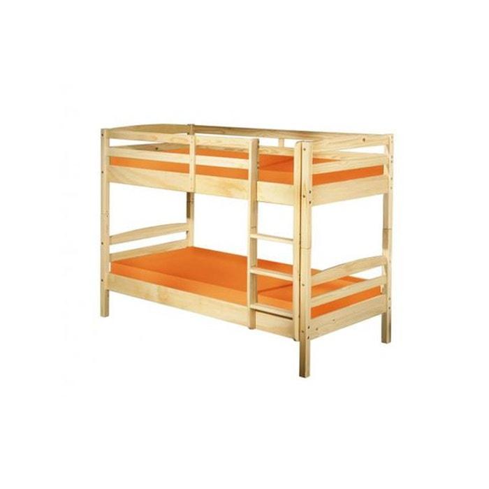 lits superpos s s parable bois 90x190 yohan beige declikdeco la redoute. Black Bedroom Furniture Sets. Home Design Ideas