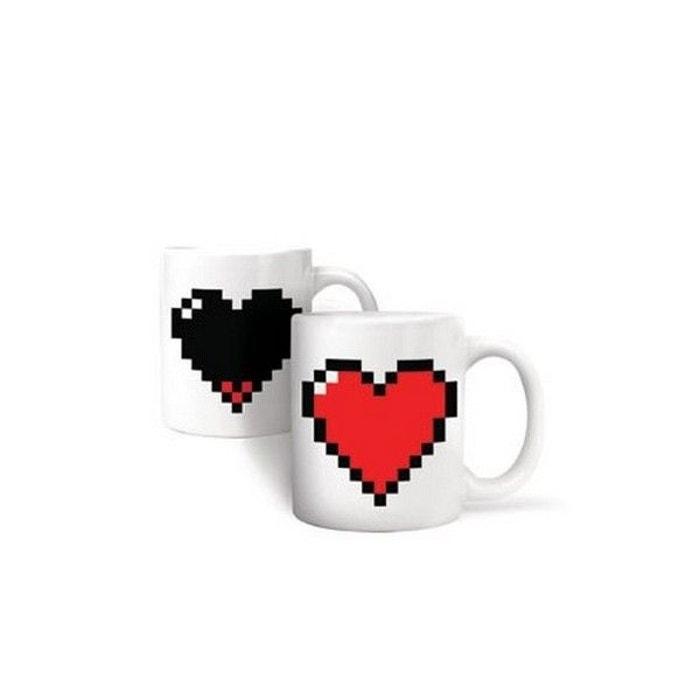 Mug Thermosensible Coeur Pixel Kikkerland