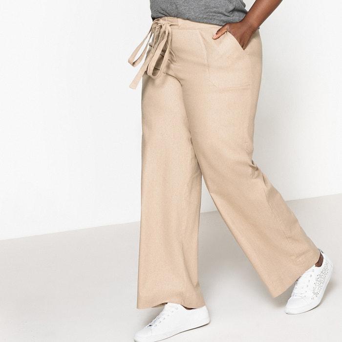 """Linen/Cotton Wide Leg Trousers, Length 30.5""""  CASTALUNA image 0"""