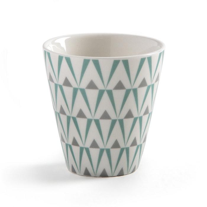 Confezione da 4 tazze da caffè in porcellana e piattino in bambù  La Redoute Interieurs image 0
