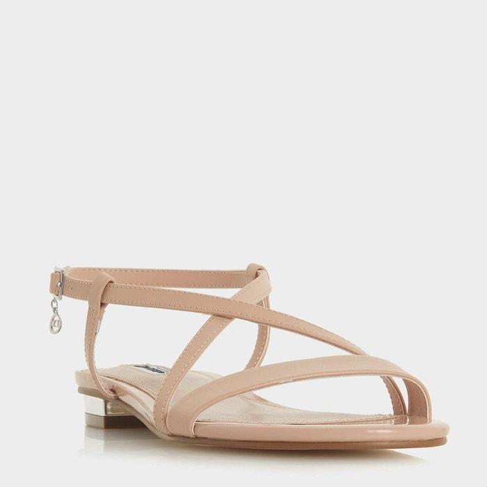 Sandales plates à brides croisées Réduction De La France 9jM8H
