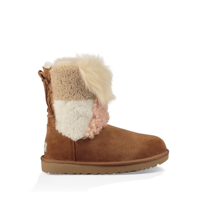 4da85ea237c Classic Short Patchwork Fluff Boots