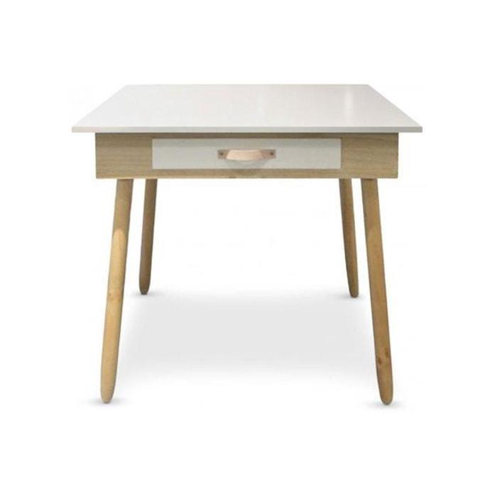 bureau avec tiroir scandinave blanc north blanc declikdeco la redoute. Black Bedroom Furniture Sets. Home Design Ideas