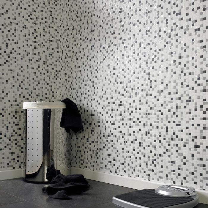 Papier Peint Cuisine Et Salle De Bain Contour Checker Blanc Gris 52