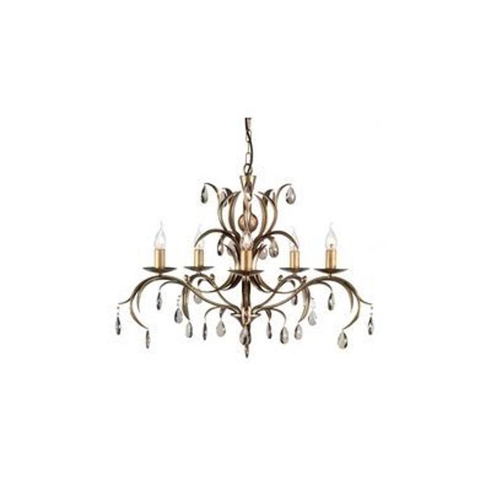 lustre lily 5x60w bronze elstead lighting ll5 elstead. Black Bedroom Furniture Sets. Home Design Ideas