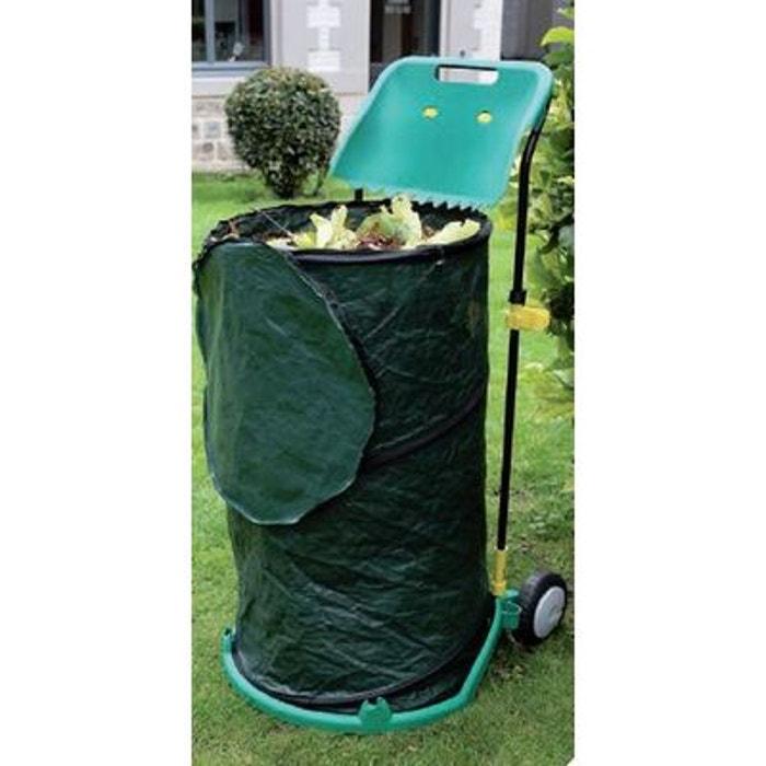 chariot de transport pliable pour d chets de jardin couleur unique lekingstore la redoute. Black Bedroom Furniture Sets. Home Design Ideas