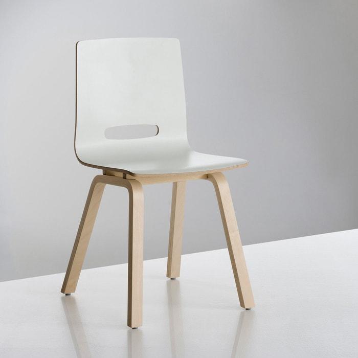 Chaise bouleau jimi la redoute interieurs blanc naturel la redoute - Chaise scandinave la redoute ...
