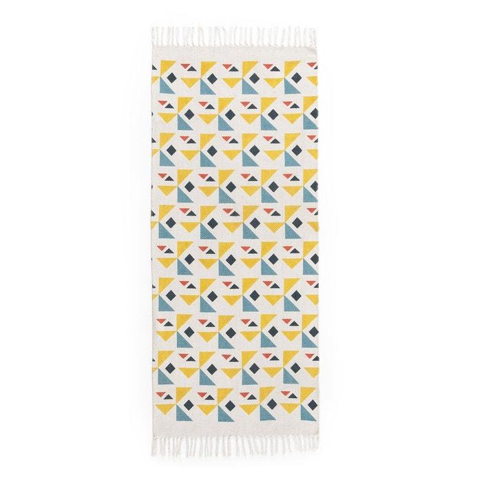 tapis coton imprim tessello multicolore la redoute. Black Bedroom Furniture Sets. Home Design Ideas
