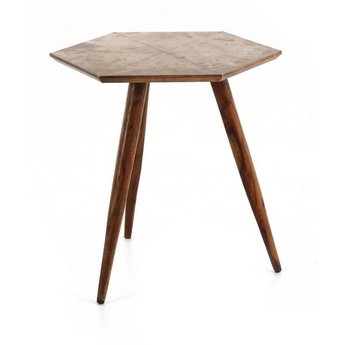 table basse bois et m tal coppen inwood la redoute. Black Bedroom Furniture Sets. Home Design Ideas
