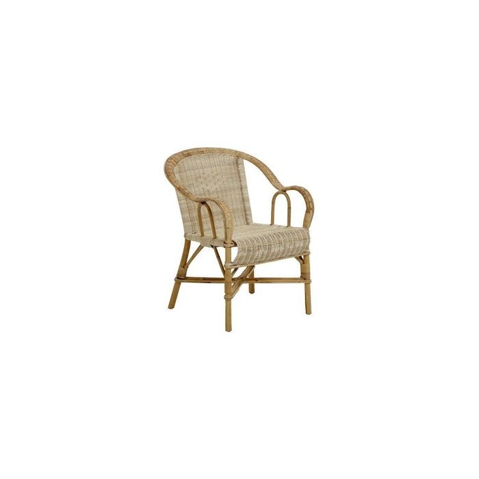 fauteuil grand p re en rotin bas dossier beige clair kok la redoute. Black Bedroom Furniture Sets. Home Design Ideas
