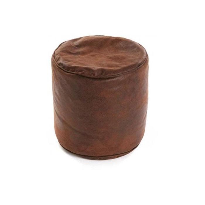 pouf cylindre marron oldies marron versa la redoute. Black Bedroom Furniture Sets. Home Design Ideas