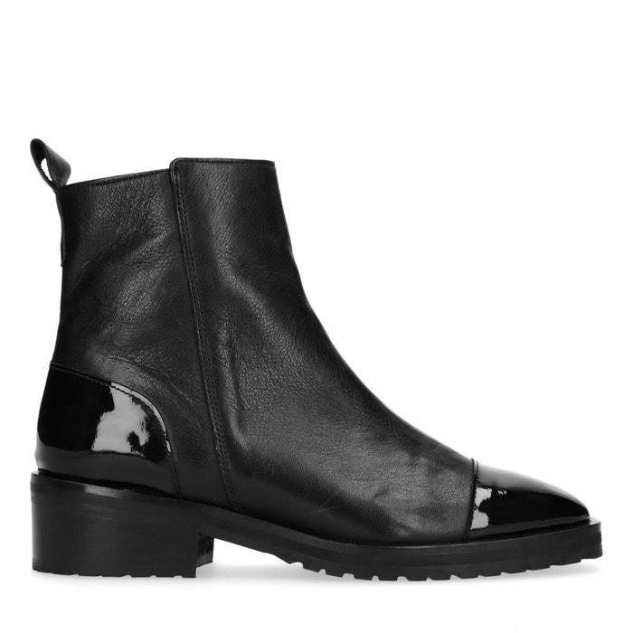 à cuir verni Chaussures lacets noir 36 Sacha 40qwT4