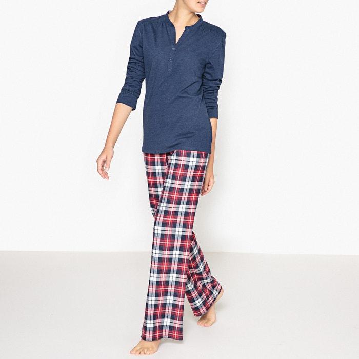 afbeelding Pyjama met geruite broek La Redoute Collections