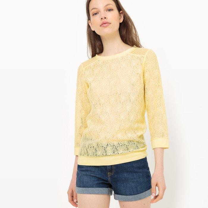 afbeelding Sweater in kant met ronde hals MADEMOISELLE R