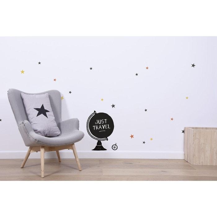 sticker mappemonde noir et blanc lilipinso la redoute. Black Bedroom Furniture Sets. Home Design Ideas