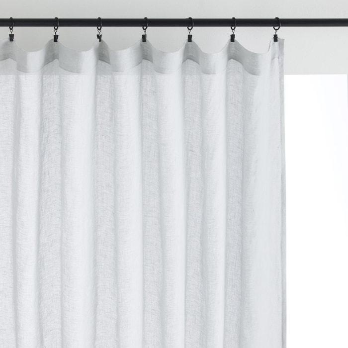 drap l ger gaze de lin elphir gris perle am pm la redoute. Black Bedroom Furniture Sets. Home Design Ideas