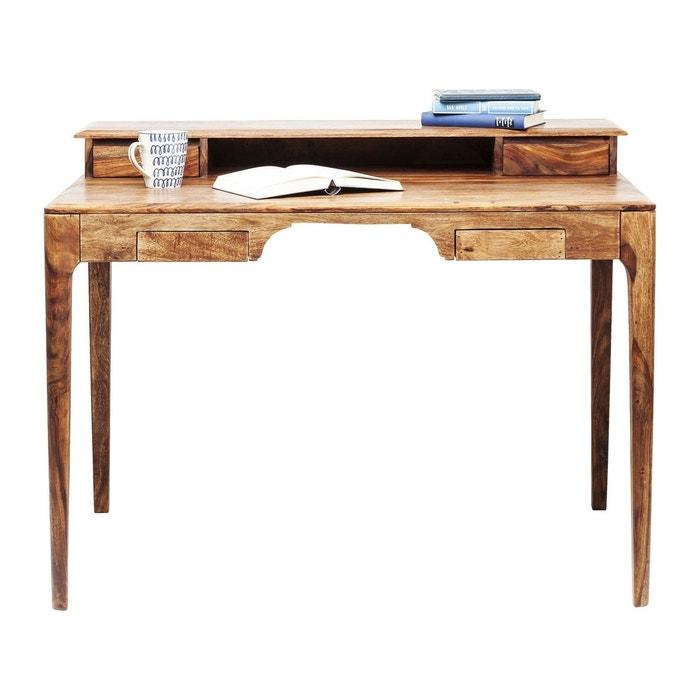 Bureau brooklyn nature 110x70cm kare design bois fonce for Petit bureau contemporain