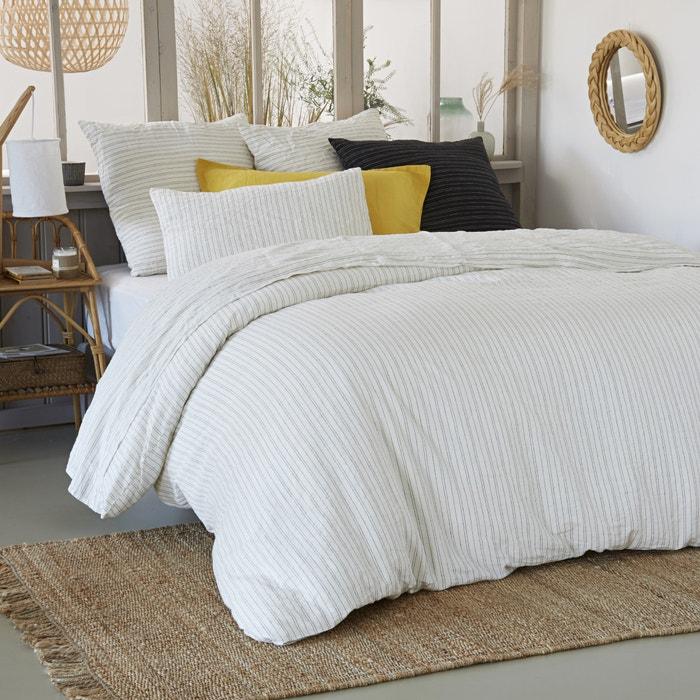 Copripiumone fantasia in lino lavato UZES  La Redoute Interieurs image 0