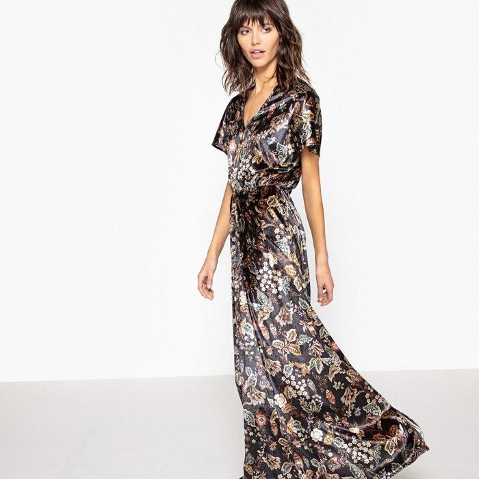 Robe Longue En Velours Imprim 233 E Fleurs Imprim 233 Fleurs