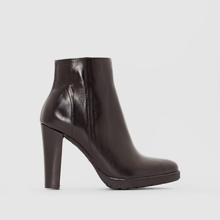 Image Boots cuir à talon Aix JONAK