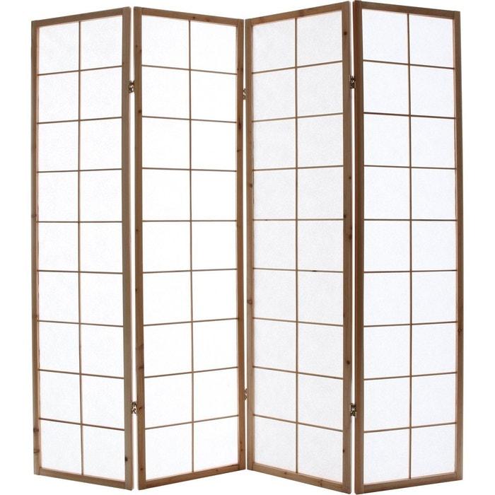 paravent japonais en bois et papier ikuyo naturel miliboo. Black Bedroom Furniture Sets. Home Design Ideas