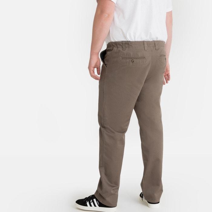 Regular chino broek, elastisch opzij