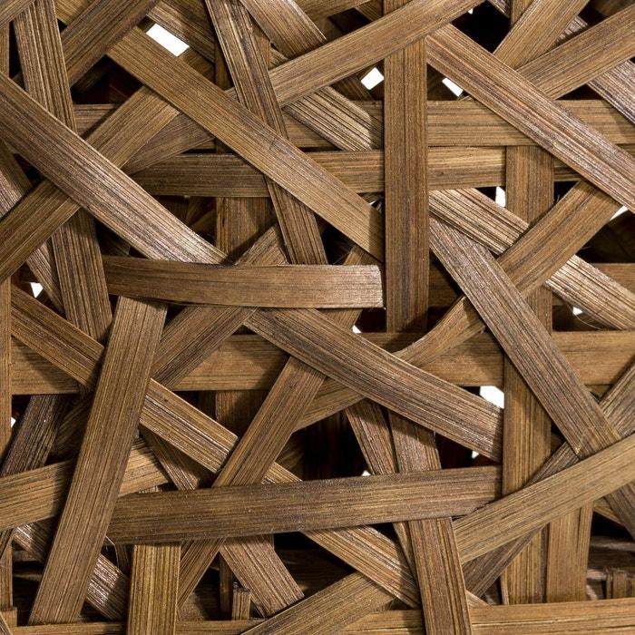 t te de lit rotin tress h120 cm madeline am pm bois fonc la redoute. Black Bedroom Furniture Sets. Home Design Ideas