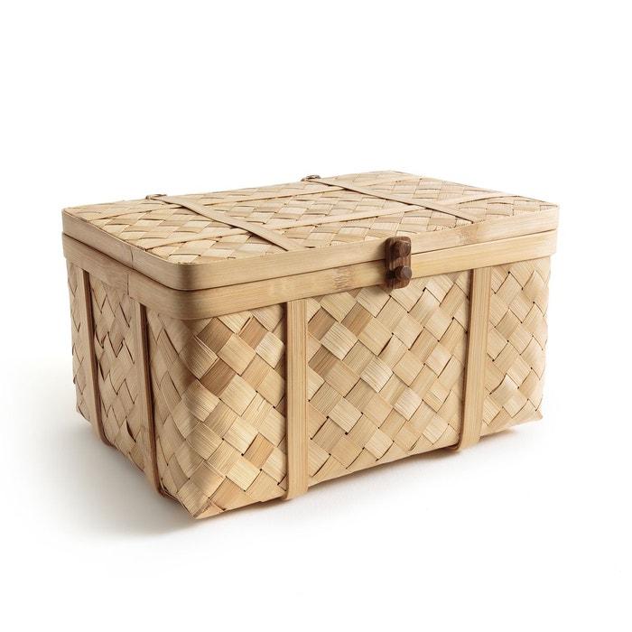 Malle artisanale en bambou tress bathilda bambou am pm - Malle de rangement deco ...