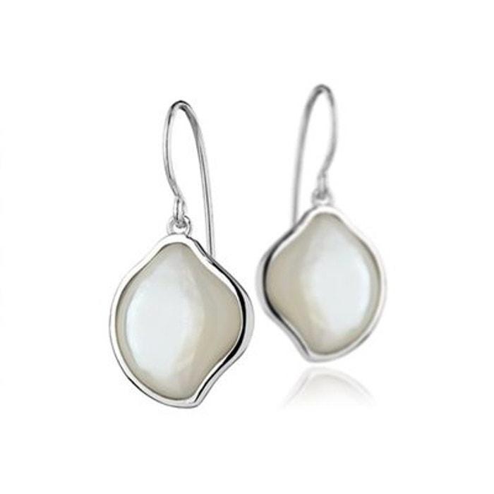 Boucles d'oreilles percées en argent 925 passivé, nacre, 2.8g blanc Canyon | La Redoute