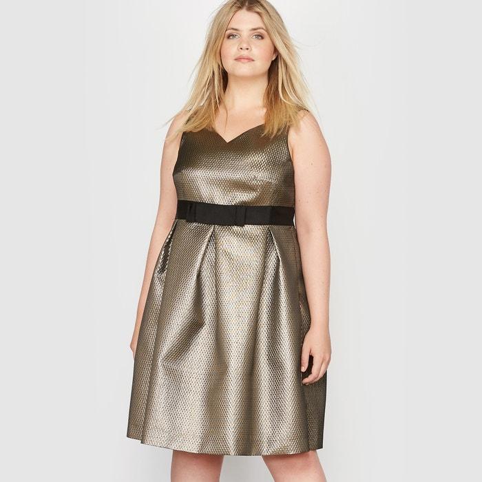 Image Shimmery Jacquard Evening Shift Dress CASTALUNA
