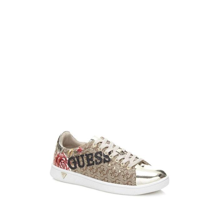 Sneaker super logo  marron Guess  La Redoute