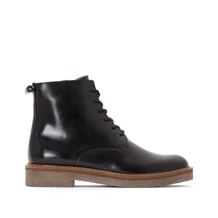 Redoute La Oxigeno Boots Kickers Noir Cuir w8nUqX