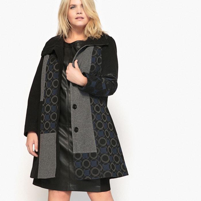 Image Mix Print Wool Blend Coat CASTALUNA