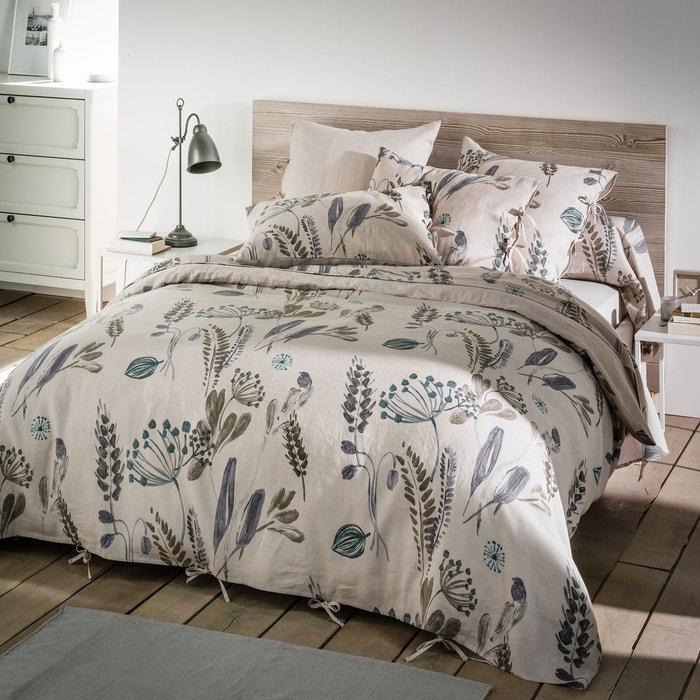 housse de couette pur lin lav craft garden la redoute. Black Bedroom Furniture Sets. Home Design Ideas