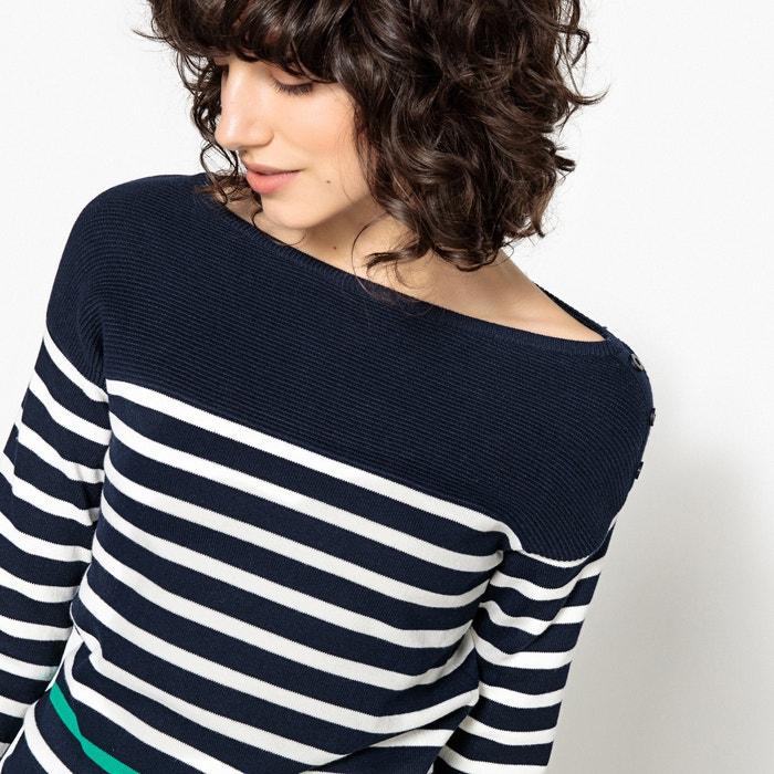 de estilo redondo Redoute marinero Jersey Collections con La cuello xZt1BIw