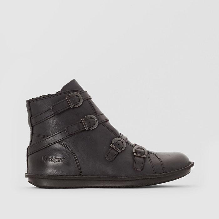 afbeelding Boots in leer met bandjes Waxing KICKERS