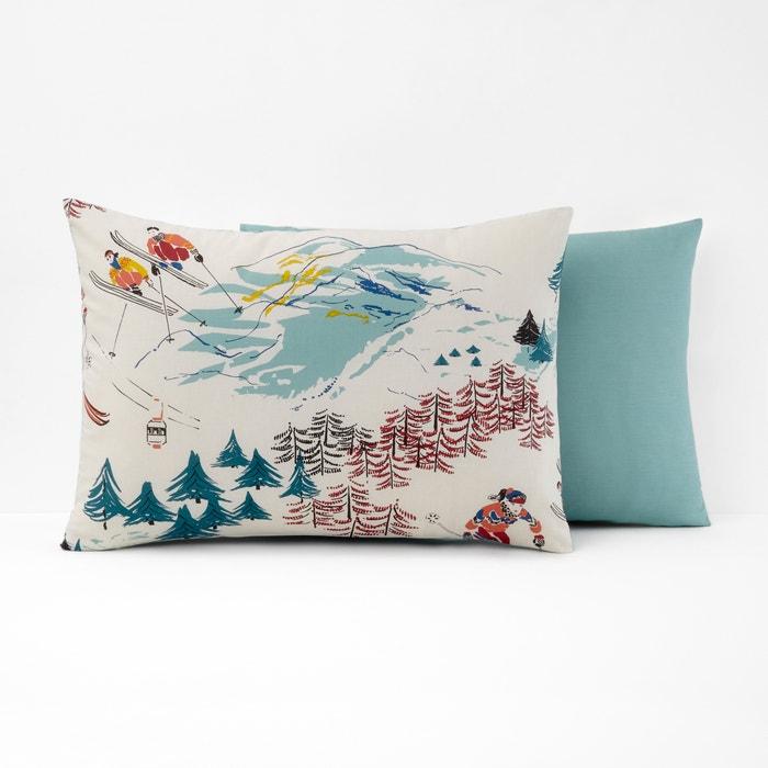 Sancy Single Printed Cotton Pillowcase  La Redoute Interieurs image 0