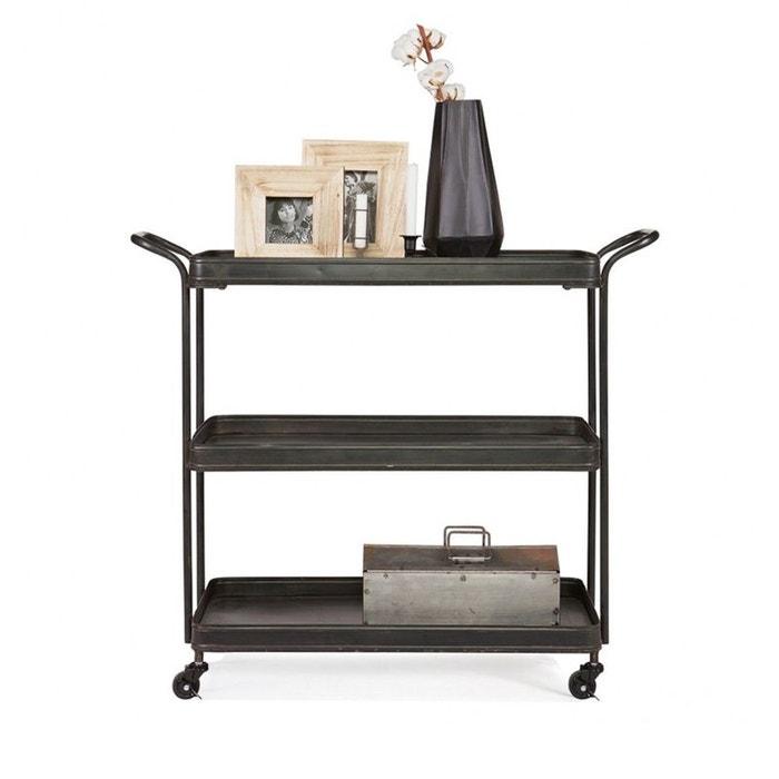 desserte roulettes en m tal tea noir drawer la redoute. Black Bedroom Furniture Sets. Home Design Ideas