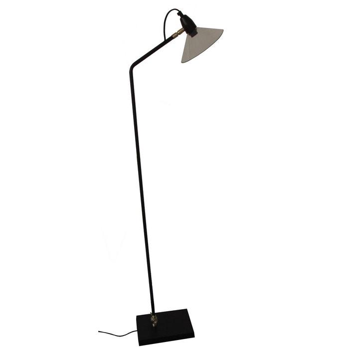 lampadaire m tal noir et verre desk noir zago la redoute. Black Bedroom Furniture Sets. Home Design Ideas