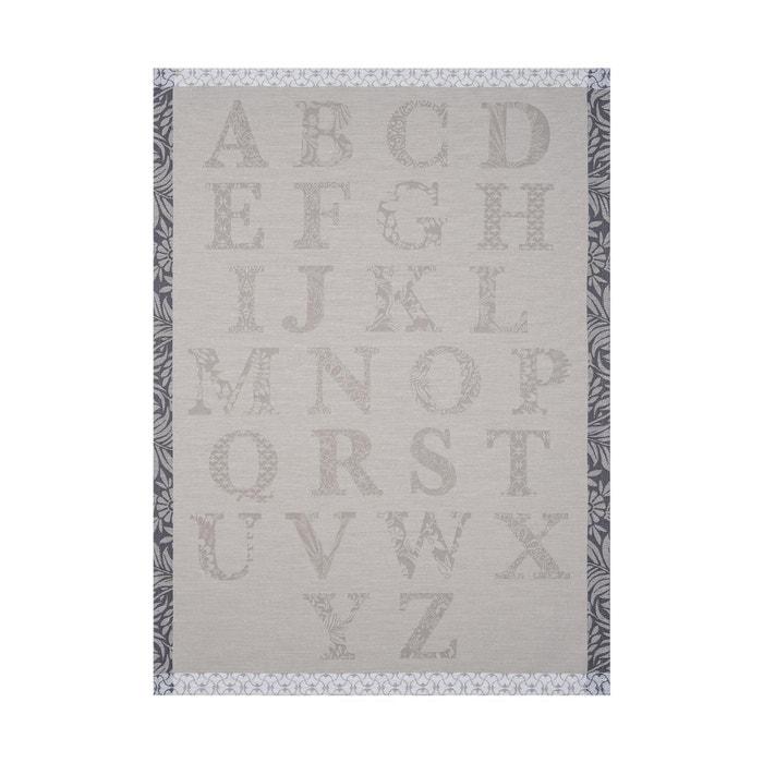 Torchon ab c daire gr s 60x80 100 coton gris le jacquard francais la redoute - Torchon jacquard francais ...